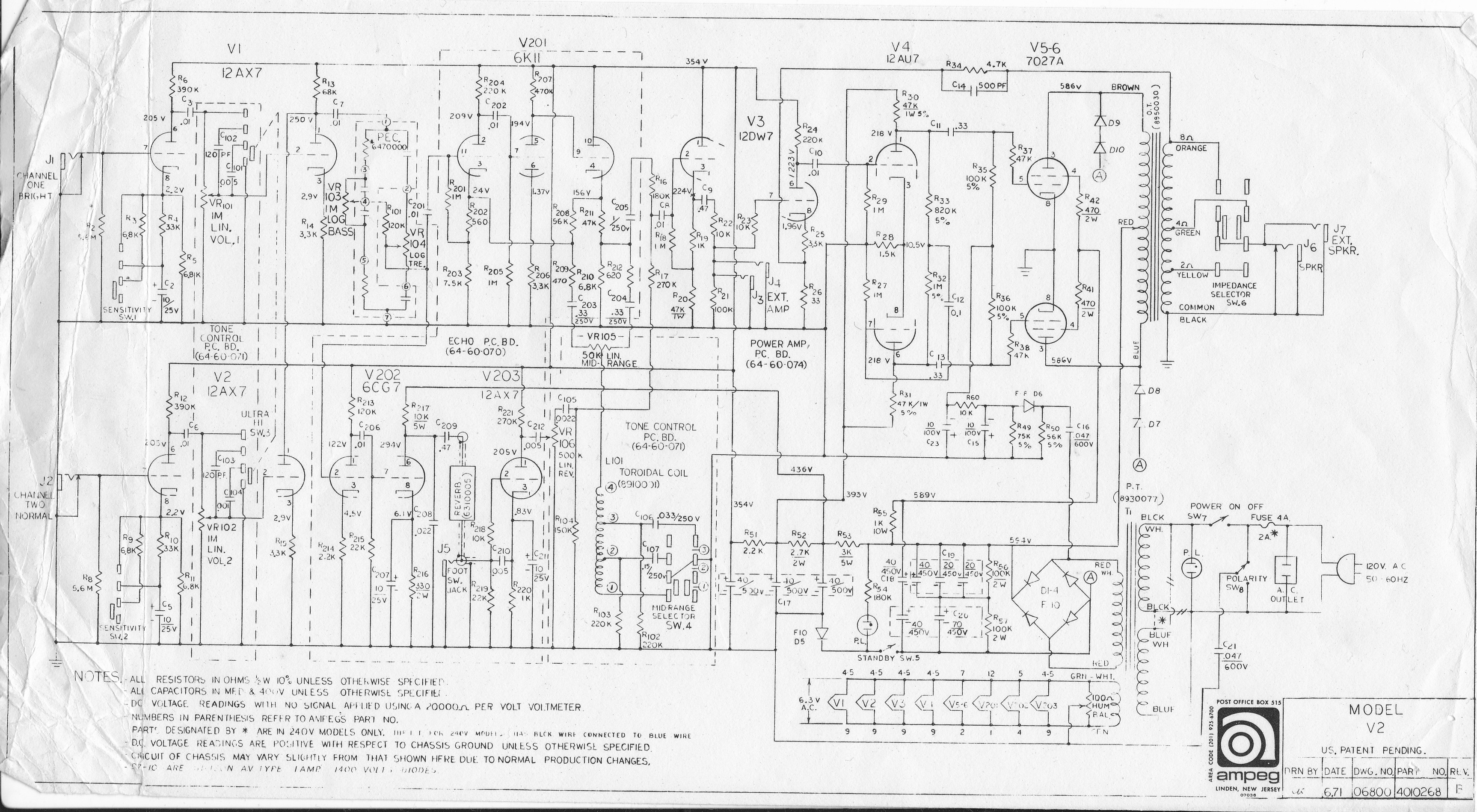 Schematics :: Ampeg V4.com | All Ampeg All The Time