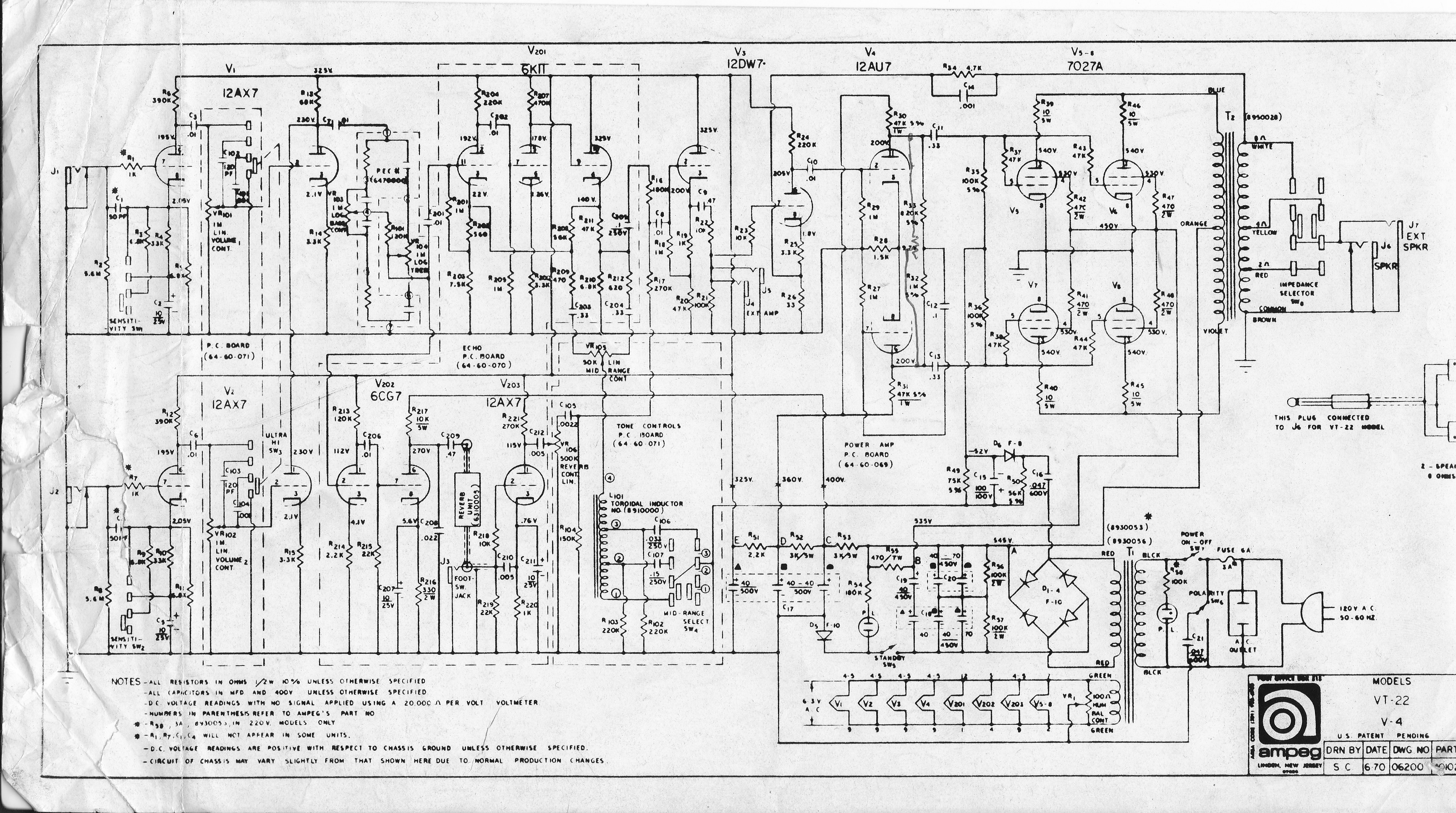 Schematics :: Ampeg V4.com | All Ampeg All The Time on circuit diagram, straight-line diagram, data flow diagram, ladder logic, control flow diagram, function block diagram, technical drawing, functional flow block diagram, tube map, piping and instrumentation diagram, electronic design automation, diagramming software, schematic capture, one-line diagram, cross section, block diagram,